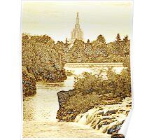Idaho Falls Temple Sepia 20x24 Poster