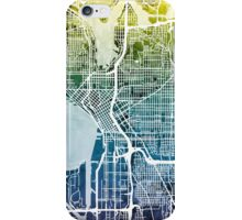 Seattle Washington Street Map iPhone Case/Skin
