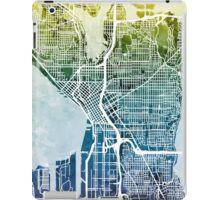 Seattle Washington Street Map iPad Case/Skin