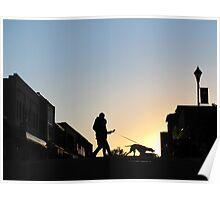 Tethered Walk At Sundown Poster