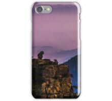 Monkey on hill iPhone Case/Skin