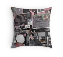 """What's your Voo Doo?"", Asked The Goth Dude - Portland, Oregon Throw Pillow"