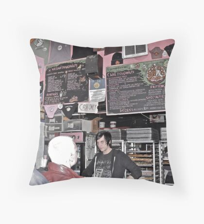 """""""What's your Voo Doo?"""", Asked The Goth Dude - Portland, Oregon Throw Pillow"""