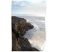 First Light on Giant's Causeway Poster