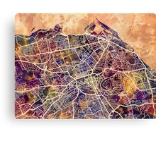 Edinburgh Street Map Canvas Print