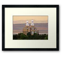 Logan Temple at Dusk 20x30 Framed Print