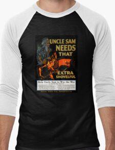 Uncle Sam needs that extra shovelful Poster Men's Baseball ¾ T-Shirt