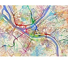 Pittsburgh Pennsylvania Street Map Photographic Print