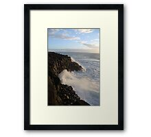 The Mighty Sea Framed Print