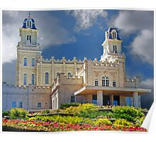 Manti Temple Flower Garden 20x24 Poster