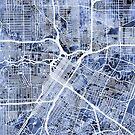 Houston Texas City Street Map by Michael Tompsett