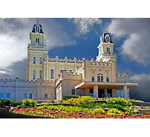 Manti Temple Flower Garden 20x30 Photographic Print