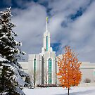 Mt. Timpanogos Temple After the Storm 20x30 by Ken Fortie