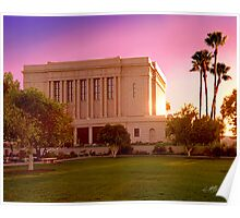 Mesa Arizona Temple Desert Sunset 20x24 Poster