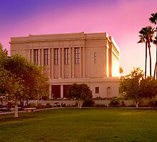 Mesa Arizona Temple Desert Sunset 20x30 by Ken Fortie