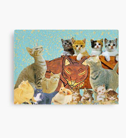 Cute Cat collage 2 Canvas Print