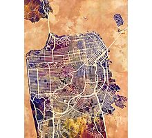 San Francisco City Street Map Photographic Print