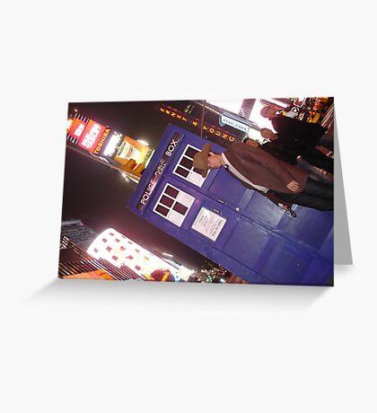 TARDIS in Times Square Greeting Card