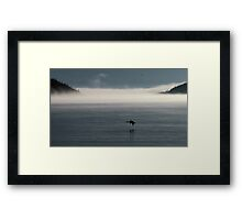 Lake Superior Fog and Canada Goose - Marathon Ontario Canada Framed Print