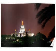 Oakland Temple by the Palm Tree 20x24 Poster