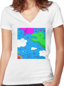 Monsterly Love Shirt Women's Fitted V-Neck T-Shirt