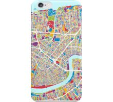 New Orleans Street Map iPhone Case/Skin