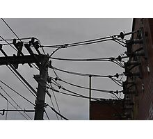 Telephone Wires Photography Photographic Print