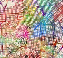 San Francisco City Street Map Sticker