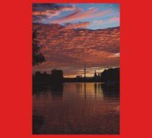 Reflecting on Fiery Skies - Toronto Skyline at Sunset One Piece - Short Sleeve
