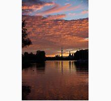 Reflecting on Fiery Skies - Toronto Skyline at Sunset Unisex T-Shirt