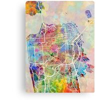 San Francisco City Street Map Canvas Print