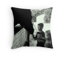"""Making a Friend"" Throw Pillow"