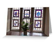 Canons Ashby House Staircase Tower Window Greeting Card