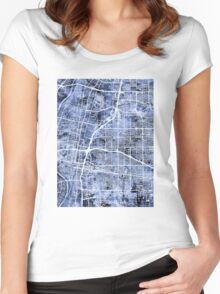 Albuquerque New Mexico City Street Map Women's Fitted Scoop T-Shirt