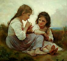 Replica Bouguereau Childhood idyll by jihorda