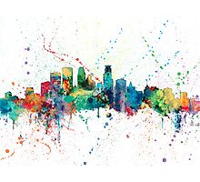 Minneapolis Minnesota Skyline Photographic Print