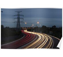 Pylon with traffic Poster