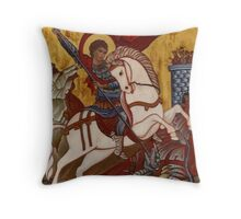 Saint George and the Dragon 1 Throw Pillow