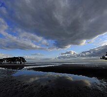 Nudgee Beach at sunrise. Brisbane, Queensland, Australia. (2) by Ralph de Zilva