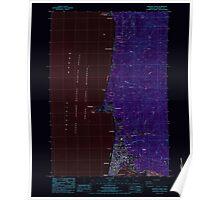 USGS Topo Map Oregon Newport North 280921 1984 24000 Inverted Poster