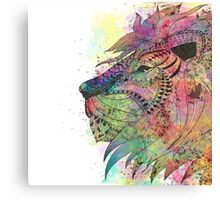 Awesome tribal watercolor lion design Canvas Print