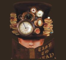 "STEAMPUNK-""Time to Read"" by Rosy Hall"