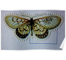 Butterfly Stamp West Samoa Poster