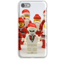 """Santa Showdown """"There Can Be Only One"""" iPhone Case/Skin"""