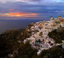 Sunset in Oia by Cristy Warnock