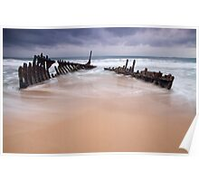 Wreck on The Beach Poster