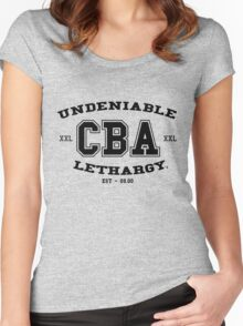 CBA-University (for light shirts & sticker)  Women's Fitted Scoop T-Shirt