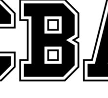 CBA-University (for light shirts & sticker)  Sticker
