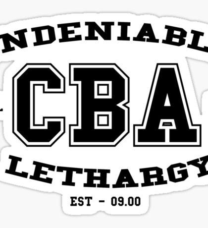 CBA-University (for light shirts & sticker)  Sticker