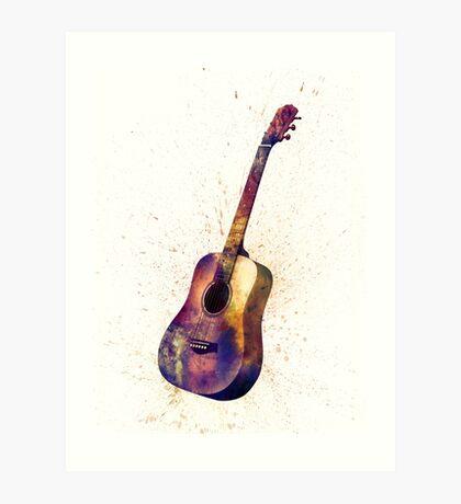 Acoustic Guitar Abstract Watercolor Art Print